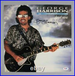 George Harrison Signed Album LP Cover Cloud Nine COA PSA/DNA