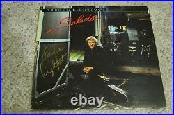 Gordon Lightfoot Signed Salute Album cover with vinyl and JSA Cert