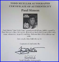 Graceland Paul Simon Hand Signed Album Cover Todd Mueller COA