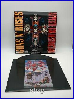Guns N' Roses Band Autographed Record Album Cover