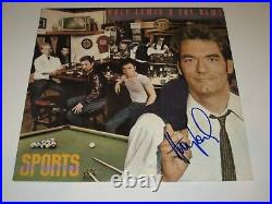 HUEY LEWIS Signed SPORTS Album LP COVER with Beckett COA