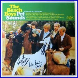 Hal Blaine Don Randi Frank Capp Autographed Album Cover Beach Boys JSA HH37467