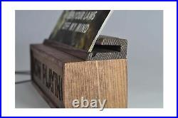 Handmade Now Playing Vinyl Record Storage Album Cover Display Stand Holder, V