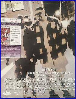 Heavy D Signed'whos The Man' Album Cover Autograph Jsa Coa