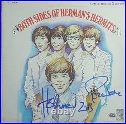 Herman's Hermits Peter Noone Keith Hopwood Hand Signed Album Cover PAAS COA