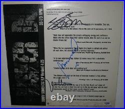 Husker Du Signed'sorry Somehow' 12 Album Cover All 3 Members Psa/dna Coa