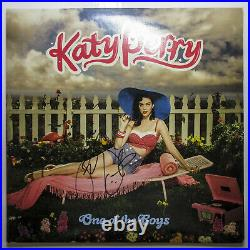 I KISSED A GIRL Katy Perry Signed'One Of The Boys Vinyl Album Cover Proof JSA