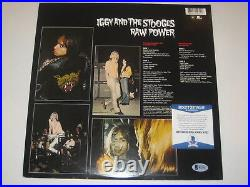 IGGY POP Signed RAW POWER Album Cover with Beckett COA