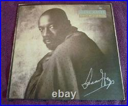 ISAAC HAYES R&B LEGEND SHOWDOWN HAND SIGNED LP ALBUM COVER RECORD INCLUDED WithCOA