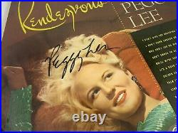 Incredible PEGGY LEE signed LP Album RENDEZVOUS Autograph Photo Cover Star A+++
