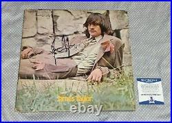JAMES TAYLOR SIGNED 1ST ALBUM RARE LP ALBUM COVER Autographed BAS CERTIFIED COA