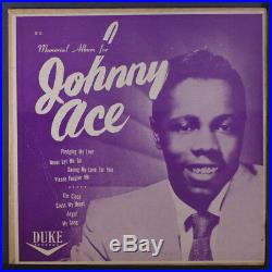 JOHNNY ACE Memorial Album LP (10, cover creased, but still flat and sharp!)