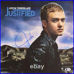 Justin Timberlake Authentic Signed Justified Album Cover With Vinyl BAS #C87060