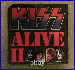 KISS Alive II Vinyl Record Album NBLP-7076 Misprint Cover With Book Vintage Etc