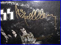 Kiss Full Autographed Album LP Cover Dressed To Kill Vinyl COA Guarantee 100%