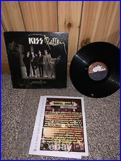 Kiss Full Autographed Album LP Cover Dressed To Kill Vinyl COA Guaranteed 100%