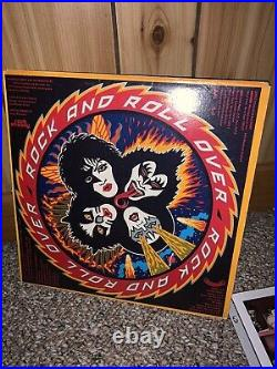 Kiss Full Autographed Album LP Cover Rock & Roll Over Vinyl COA Guaranteed 100%