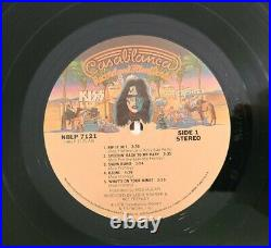 Kiss RARE Ace Frehley 1977 Solo LP with Paul Stanley Purple Back Cover NBLP 7121