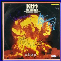 Kiss Signed The Originals LP Album Cover Framed Simmons Frehley Stanley Criss