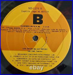 LOS PUNK ROCKERS'Los Exitos De Sex Pistols' 1978 Spain Cover Album WEIRD PUNK