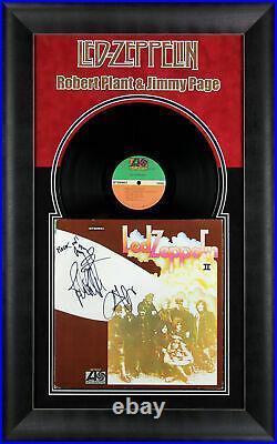 Led Zeppelin (3) Page, Jones & Plant Signed & Framed II Album Cover With Vinyl BAS