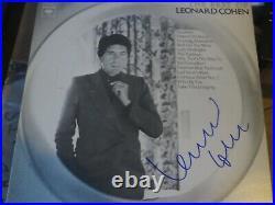 Leonard Cohen Signed The Best Of Leonard Cohen Album Cover Jsa Authenticated