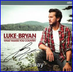 Luke Bryan signed 2017 What Makes You Country Album Cover/LP/Vinyl/Record- JSA