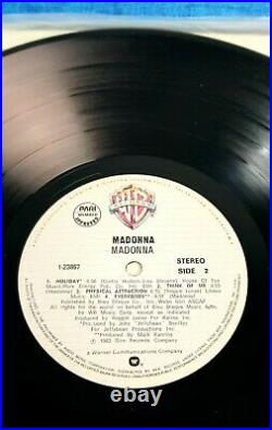 MADONNA FIRST ALBUM 12'' VINYL PHILIPPINES LP RECORD 1983 Promo Hyped Song Cover