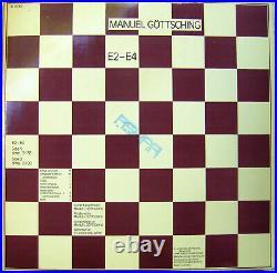 MANUEL GÖTTSCHING E2-E4 sehr rare Erstpressung von 1984 mit geprägtem Cover