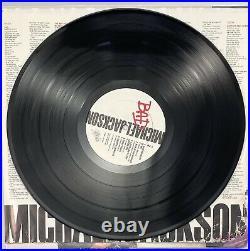 MICHAEL JACKSON BAD 1987 LP Autographed Cover Damaged EX Vinyl Promo OE 40600