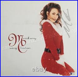 Mariah Carey MERRY CHRISTMAS Signed /Autographed Cover RED Vinyl LP with COA