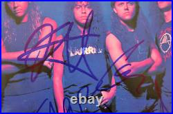 Metallica (4) Hetfield, Ulrich, +2 Signed One 45 RPM Album Cover With Vinyl BAS