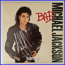 Michael Jackson Autographed Vinyl Album Cover Bad Original With COA #MJ58932