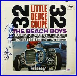 Mike Love & Bruce Johnston Beach Boys Signed Album Cover With Vinyl PSA #U25910