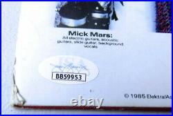 Motley Crue Band Signed Autographed Album Cover Mars Niel Lee Sixx JSA LOA