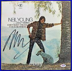 Neil Young Signed'Everybody Knows This Is Nowhere' Album Cover PSA/DNA #AB81057