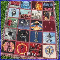 Official Rush Album Cover Blanket Geddy Lee Neil Peart Can't Fight It Lp Record