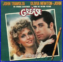 Olivia Newton-John signed 1978 Grease Soundtrack Album Cover/LP/Vinyl Record-JSA
