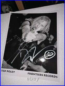 Orig Kiss ACE FREHLEY Solo Autographed Album LP Cover Vinyl Guaranteed 100%