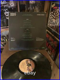 Orig Kiss PETER CRISS Solo Autographed Album LP Cover Vinyl Guaranteed 100%