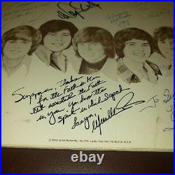 Osmonds The Plan 5 Member Autographed Album Cover