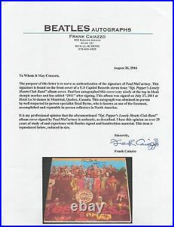 Paul McCartney 2011 Signed Sgt. Peppers Album Cover With Vinyl JSA & Caiazzo LOA