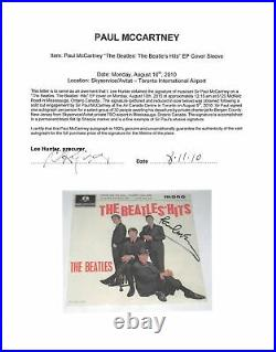 Paul McCartney Signed The Beatles' Hits 45 RPM Album Cover With Vinyl BAS #A57933