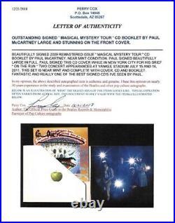 Paul Mccartney signed CD Album Cover Beatles Magical mystery Tour BAS COA