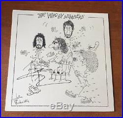 Pete Townshend The Who Signed BY THE NUMBERS Album Cover JSA/COA P34368