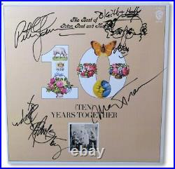 Peter, Paul and Mary Signed Autographed Record Album Cover 10 Years JSA BB40980