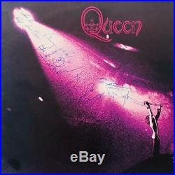 Queen Freddie Mercury Signed Debut Album Cover Authentic Autographs With Proof