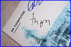 RADIOHEAD BAND SIGNED'OK COMPUTER' RECORD ALBUM COVER WithCOA X5 PROOF THOM YORKE