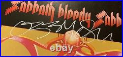 RARE! Ozzy Osbourne/Tony Iommi Dual Signed Black Sabbath Album Cover