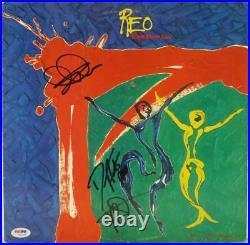 REO Speedwagon Signed Album Cover with Vinyl Doughty/Cronin/Amato PSA/DNA #W01595
